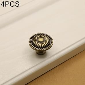 4 PCS 32mm 235 Green Bronze Cabinet Wardrobe Door Drawer Vintage Zinc Alloy Solid Single Hole Handle