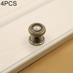 4 PCS 30mm 266 Green Bronze Cabinet Wardrobe Door Drawer Vintage Zinc Alloy Solid Single Hole Handle