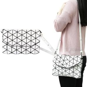Women Handbag Geometric Envelope Clutch Crossbody Satchel Purse Lady Bag(White)