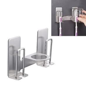 Roestvrijstaal liefhebbers tandenborstel tandpasta rack badkamer houder opslag rek