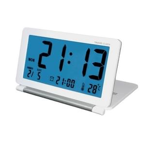 AQ-141 Electronic Alarm Clock Travel Clock Multifunction LCD Large Screen Folding Desk Clock, Random Color Delivery