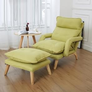F3 Lazy Sofa Armrest Bedroom Leisure Japanese Folding Fabric Lounge Chair (Green)