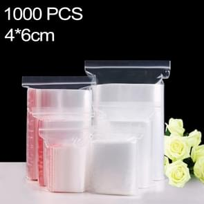 1000 PCS 4cm x 6cm PE Self Sealing Clear Zip Lock Packaging Bag, Custom Printing and Size are welcome