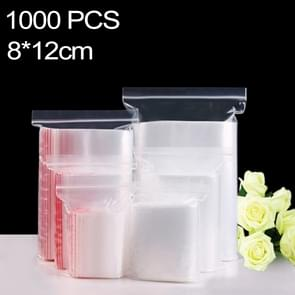 1000 PCS 8cm x 12cm PE Self Sealing Clear Zip Lock Packaging Bag, Custom Printing and Size are welcome