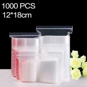 1000 stuks 12 x 18 cm PE zelf duidelijk Zip-Lock verpakking zak afdichten  Custom Printing en grootte zijn welkom