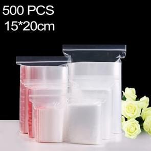 500 stuks 15 x 20 cm PE zelf duidelijk Zip-Lock verpakking zak afdichten  Custom Printing en grootte zijn welkom