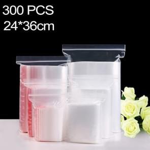 300 pc's 24 x 36 cm PE zelf duidelijk Zip-Lock verpakking zak afdichten  Custom Printing en grootte zijn welkom