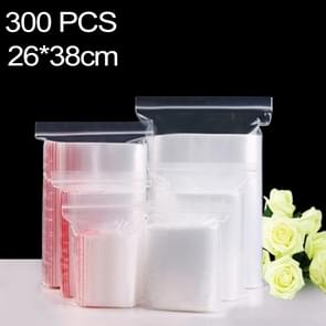 300 PCS 26cm x 38cm PE Self Sealing Clear Zip Lock Packaging Bag, Custom Printing and Size are welcome