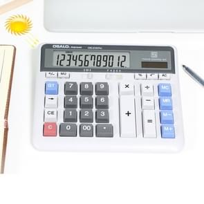 OSALO OS-2135 Pro 12 Digits Desktop Calculator Solar Energy Dual Power Calculator