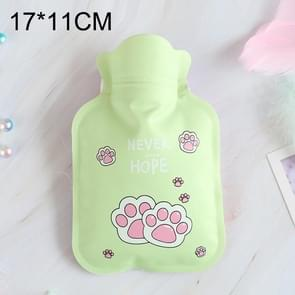 Cartoon Warm Safe Reliable PVC Household Water Injection Hot Water Bag, Random Color Delivery, Size:S, 17x11cm