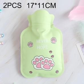 2 PCS Cartoon Warm PVC Household Water Injection Hot Water Bag, Random Color Delivery, Size:S, 17x11cm