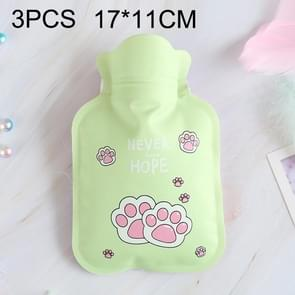 3 PCS Cartoon Warm Household Water Injection Hot Water Bag, Random Color Delivery, Size:S, 17x11cm