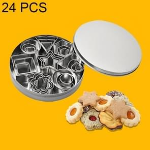 24 PCS / Set Stainless Steel DIY Cookie Biscuits Molds Geometry Baking Tools (Hexagon)