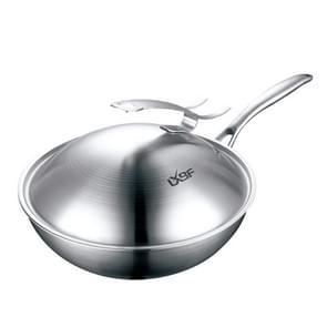 LXBF LX-3CG-303 30cm Compound Steel Vertical Pot Cover Non Stick Wok Cooking Pot