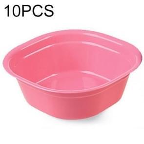 Huishouden Square verdikking Plastic een keuken badkamer wastafel  grootte: 28 x 28 cm x 10 cm (roze)