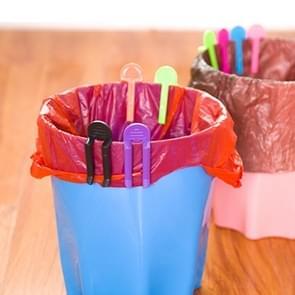 4-delige universele Prullenbak zak Clip Afvalmand vuilnisbak vuilnisbak klem vuilnis Clip antislip-vuilnis zak Clip  willekeurige kleur levering vast