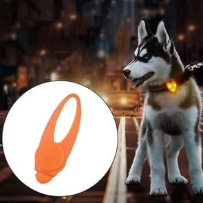 LED Night Light Pet Safety Collar Silicone Pendant (Orange)