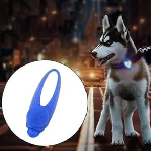 LED Night Light Pet Safety Collar Silicone Pendant (Blue)