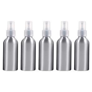 5 STKS hervulbare glas fijne mist verstuivers aluminium fles  120ml (transparant)