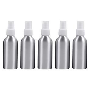 5 STKS hervulbare glas fijne mist verstuivers aluminium fles  120ml (wit)