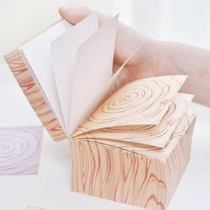 1095 Literary Wood Grain Brick Can Be Torn Thick 600 Message Note Sticky Notes, Random Style Delivery