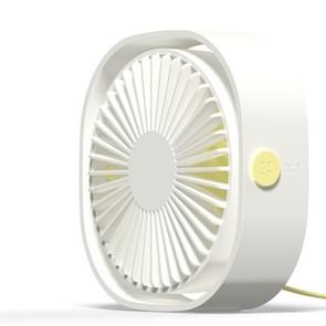360 Degree Rotation  Wind 3 Speeds Mini USB Desktop Fan (White)