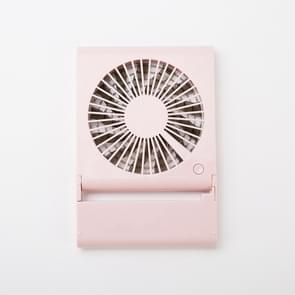 Simple Style Mini Notebook Folding USB Fan with Wind 3 Speeds(Pink)