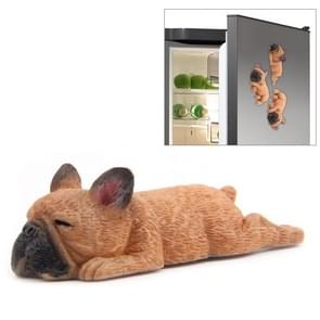 Home Decoration Lovely Rrunk on Sleep French Bulldog 3D Magnetic Buckle Fridge Paste