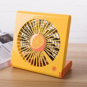 Lemon Pattern Mini Notebook Folding USB Fan with Wind 3 Speeds(Orange)