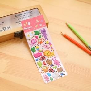 2 PCS Rabbit Lion Pattern Creative Cartoon Children DIY Album Diary Decorative Stereo Bubble Sticker