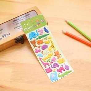 2 PCS Animals Pattern Creative Cartoon Children DIY Album Diary Decorative Stereo Bubble Sticker