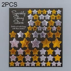 2 PCS Star 1 Pattern Creative Cartoon Children Diary Decorative Sticker