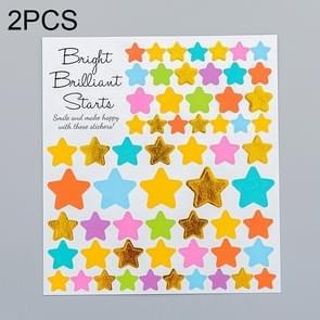 2 PCS Star 2 Pattern Creative Cartoon Children Diary Decorative Sticker