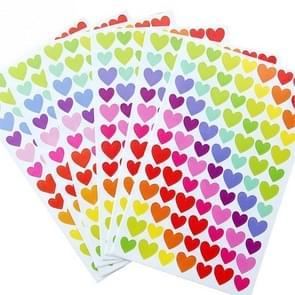10 PCS Heart Pattern Creative Children DIY Album Diary Watercolor Decorative Sticker