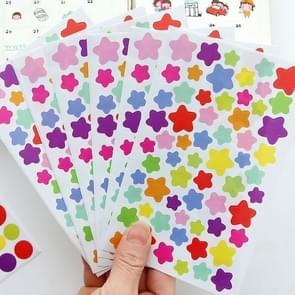 10 PCS Star Pattern Creative Children DIY Album Diary Watercolor Decorative Sticker