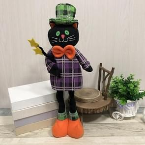 Black Cat Style Halloween Decorations Ghost Festival Party Scenes Retractable Doll Decorations