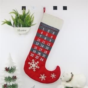 2 stuks CX20219 Christmas Countdown kalender sok kerst hanger decoratie