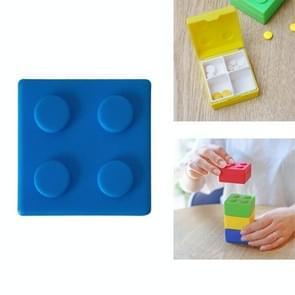 Draagbare outdoor reizen geneeskunde pil drug kleine opbergdoos container (blauw)