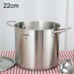 LXBF LX-ZT22-03 Stainless Steel Stock Pot Cooking Pot, Specification: 22cm