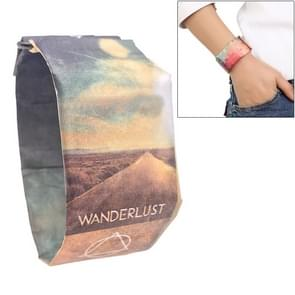Travel Pattern Creative Fashion Waterproof Paper Watch Intelligent Paper Electronic Wristwatch