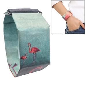 Flamingo Pattern Creative Fashion Waterproof Paper Watch Intelligent Paper Electronic Wristwatch