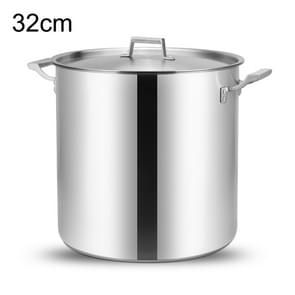 LXBF LX-SG32 24L Stainless Steel Stock Pot Cooking Pot, Specification: 32cm