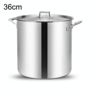 LXBF LX-SG36 36L Stainless Steel Stock Pot Cooking Pot, Specification: 36cm