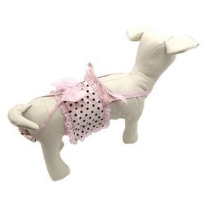 Roze stip patroon huisdier sanitaire broek met sanitaire gordel  grootte: M (taille: 26-35cm)
