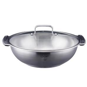 LXBF LX-TG28-W roestvrijstaal één geflavoreerde hot pot kookpot, specificatie: 28cm