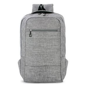 Universele multifunctionele 15.6 inch Laptop Schouderstas studenten Backpack voor MacBook  Samsung  Lenovo  Sony  Dell  Chuwi  Asus  HP  Afmetingen: 43 x 28 x 12 cm (grijs)