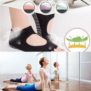 Een paar Open teen Open wreef antislip sport vrouwelijke Yoga sokken  grootte: 34-39 (EUR)(Red)