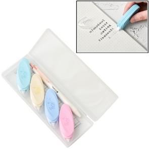 Twingo 6 in 1 verse elliptische blad correctie tape + liniaal + pennenset leermiddelen student briefpapier