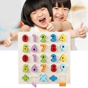Rainbow Number 0-9 Style Children Early Education Wooden Building Blocks Toys Parent-child Interaction Educational Toys, Size: 32*32*3cm