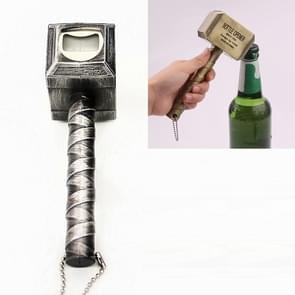 Hammer Shape Creative Beer Wine Bottle Opener (Silver)